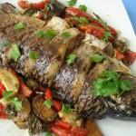 Готовим рыбу с овощами