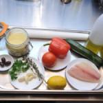 Готовим морского окуня с кус-кусом и овощами ан папийот