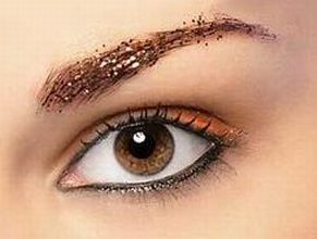 красивый макияж с блестками