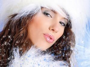макияж для  морозной зимы