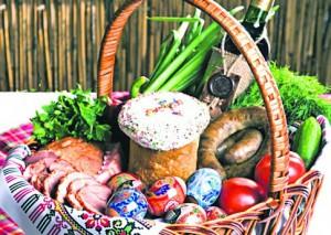 пасхальная корзина продукты