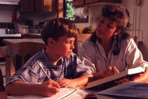 делаем домашнее задание с ребенком