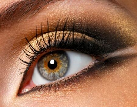 Коричневый макияж для разного цвета глаз
